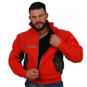Brachial Zip-Sweater Original - czerwony