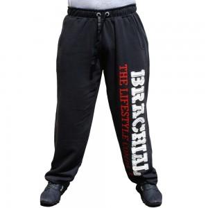 """Brachial spodnie dresowe """"Gym"""" - czarny/biały"""