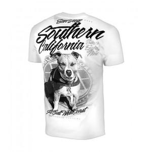 Pit Bull So Cal 18, White - Bawełniana koszulka