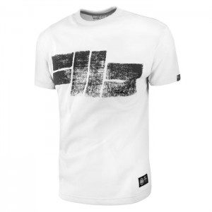 Pit Bull Classic Logo 18, White - Koszulka