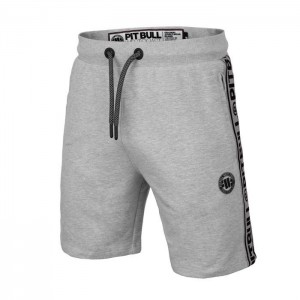 Pit Bull Szorty French Terry Small Logo - szare