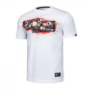Pit Bull Skull Logo 19, White - Koszulka
