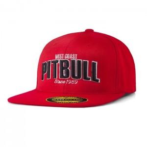 Pit Bull Full Cap Flat Since 1989, Red - Czapka z daszkiem