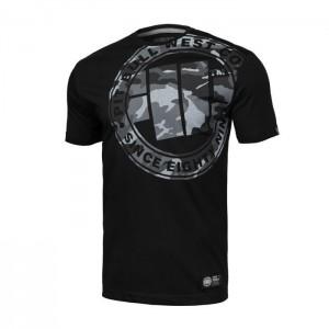 Pit Bull All Black Camo - Bawełniana koszulka męska